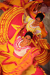 Traditional Mexico folk dance showing on stage. Mexico City. Mexico