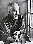 """Undated, Japan - Naoya Shiga (1883 - 1971) was a Japanese novelist and short story writer active during the Taisho and Showa periods of Japan. He contributed the story """"Abashirimade"""" to the first issue of the literary magazine Shirakaba (White Birch) in 1910. His major work, """"An'ya Koro"""" (A Dark Night's Passing) was serialized in the radical socialist magazine Kaizo between 1921 to 1937. (Photo by Kingendai Photo Library/AFLO)"""