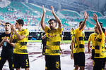 Borussia Dortmund Defender Sokratis Papastathopoulos (C) and his teammates interacting with supporters during the International Champions Cup 2017 match between AC Milan vs Borussia Dortmund at University Town Sports Centre Stadium on July 18, 2017 in Guangzhou, China. Photo by Marcio Rodrigo Machado / Power Sport Images