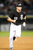 August 7, 2009:  Third Baseman Gordon Beckham (15) runs the bases vs. the Cleveland Indians at U.S. Cellular Field in Chicago, IL.  The Indians defeated the White Sox 6-2.  Photo By Mike Janes/Four Seam Images