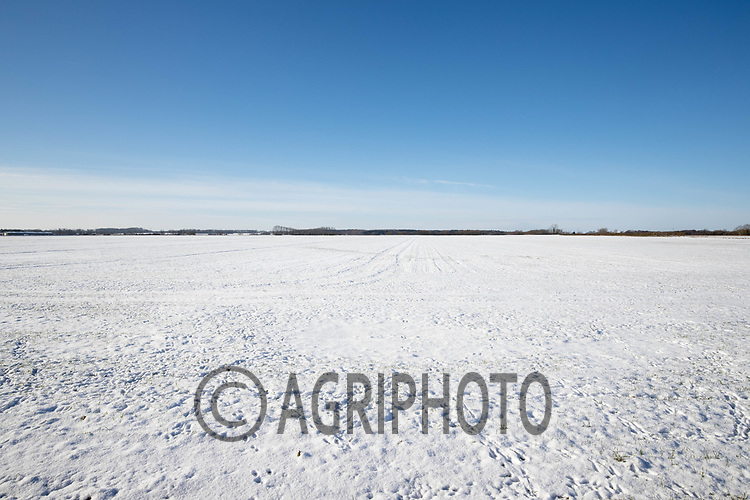 11-2-2021 Snow covered fields in Lincolnshire <br /> ©Tim Scrivener Photographer 07850 303986<br />      ....Covering Agriculture In The UK....