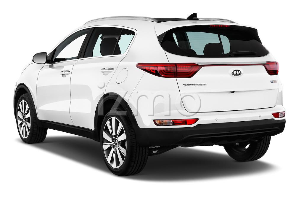 Car pictures of rear three quarter view of 2016 KIA Sportage Sense 5 Door Suv Angular Rear