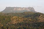 Tabular mountain of El Yunque (569 m) nearby Baracoa (Guantanamo province)