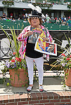 """24 Jul 10: Dr. Bambii Rae, author of """"Rachel Girl Power Running Against Bullying"""" is on hand to introduce her book at Monmouth Park."""
