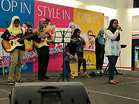 Young Malaysian Women's Band Playing in a Shopping Mall, Taiping, Malaysia