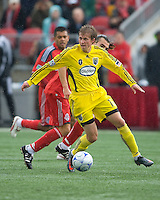 02 May 2009: Columbus Crew midfielder Brian Carroll #16 in action at BMO Field in a game between the Columbus Crew and Toronto FC. .The game ended in a 1-1 draw...
