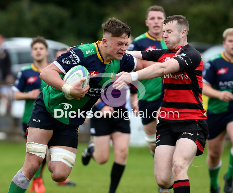 Saturday 3rd October 2020 | Hinch vs Armagh<br /> <br /> Bradley Luney on the attack for Ballynahinch during their Ulster Senior League clash against Armagh at Ballymacarn Park, Ballynahinch, County Down, Northern Ireland. Photo by John Dickson / Dicksondigital