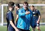 St Johnstone Training…31.08.18<br />Manager Tommy Wright pictured with Greg Hurst during training at McDiarmid Park ahead of tomorrow's game at Hamilton<br />Picture by Graeme Hart.<br />Copyright Perthshire Picture Agency<br />Tel: 01738 623350  Mobile: 07990 594431