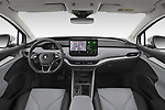 Stock photo of straight dashboard view of 2021 Skoda Enyaq-iV 80 5 Door SUV Dashboard