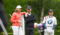 Pep Guardiola (Manchester City Manager) & Tommy Fleetwood (England) during the BMW PGA PRO-AM GOLF at Wentworth Drive, Virginia Water, England on 23 May 2018. Photo by Andy Rowland.