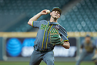 Baylor Bears relief pitcher Luke Boyd (41) in action against the Arkansas Razorbacks in game nine of the 2020 Shriners Hospitals for Children College Classic at Minute Maid Park on March 1, 2020 in Houston, Texas. The Bears defeated the Razorbacks 3-2. (Brian Westerholt/Four Seam Images)