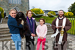 Ellen and Aideen Farndon and Aine Clayton with Archie who was blessed by Fr Anthony Jukes at the blessing oof the animals ceremony at the Friary Killlarney on Sunday