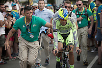 Alberto Contador (ESP/Tinkoff-Saxo) after finishing the stage 1 prologue in Utrecht (13.8km)<br /> <br /> Tour de France 2015