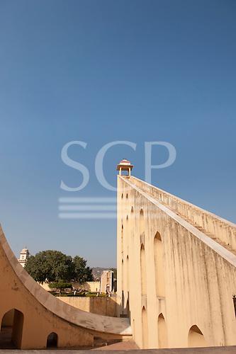 Jaipur, India. Jantar Mantar observatory built 1738 by Maharaja Sawai Jai Singh.