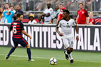 East Hartford, CT - Saturday July 01, 2017: Kelyn Rowe, Jerry Akaminko during an international friendly match between the men's national teams of the United States (USA) and Ghana (GHA) at Pratt & Whitney Stadium at Rentschler Field.