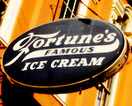 Square Book's Fortune's Famous Ice Cream sign in Oxford, Miss.