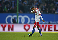 17.03.2018, Football 1. Bundesliga 2017/2018, 27.  match day, Hamburger SV - Hertha BSC Berlin, Volksparkstadium Hamburg. Douglas Santos (Hamburg) dejected  *** Local Caption *** © pixathlon<br /> <br /> +++ NED out !!! +++<br /> Contact: +49-40-22 63 02 60 , info@pixathlon.de