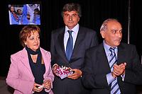 massimo oliva/inside<br /> roma 27-10-2008<br /> serata di beneficenza in ricordo di marta russo a villa miani a roma.<br /> il capo redattore della gazzetta dello sport con aureliana e donato russo