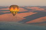 Balloon Safari at sunrise near dune fields, Sossusvlei, Namibia.