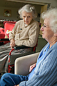 Two residents at Esk Moors Lodge, Castleton, North Yorkshire, a sheltered housing scheme and 'extra care' centre run by Esk Moors Caring.