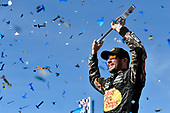 2017 Monster Energy NASCAR Cup Series - Kobalt 400<br /> Las Vegas Motor Speedway - Las Vegas, NV USA<br /> Sunday 12 March 2017<br /> Martin Truex Jr, Bass Pro Shops/TRACKER BOATS Toyota Camry celebrates his win in Victory Lane<br /> World Copyright: Nigel Kinrade/LAT Images<br /> ref: Digital Image 17LAS1nk07523