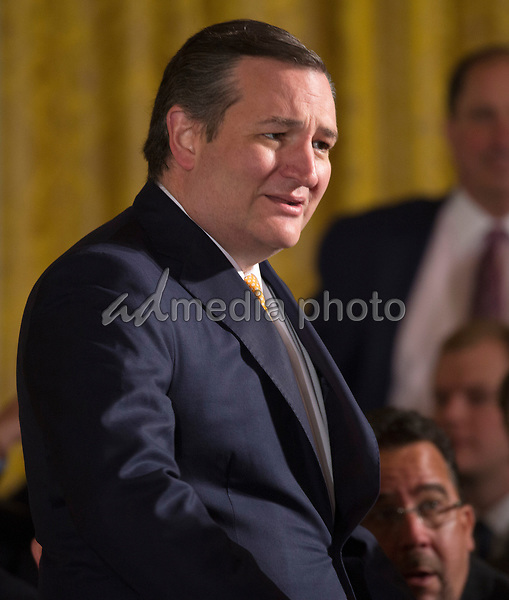Senator Ted Cruz (R-TX) attends the welcoming of  Baseball's 2017 World Series Campions, the Houston Astros to The White House in Washington, DC, March 12, 2018. Photo Credit: Chris Kleponis/CNP/AdMedia