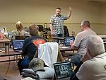 MD Welch teaching a Lightroom photo class at STW, Winnemucca<br /> <br /> #ShootingTheWest XXX, #WinnemuccaNevada, #MDWelch, #Lightoom