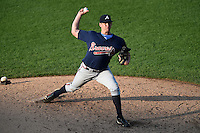 Rob Francis (30) of Lawton Chiles High School in Tallahassee, Florida playing for the Atlanta Braves scout team during the East Coast Pro Showcase on July 31, 2014 at NBT Bank Stadium in Syracuse, New York.  (Mike Janes/Four Seam Images)