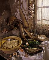 """Europe/France/Midi-Pyrénées/46/Lot/Vallée du Lot/Env de Figeac : Stockfish ou estofi - Recette de J.-M. Roques du restaurant """"Le Drauzou"""""""