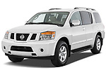 2010 Nissan Armada SE 5 Door SUV angular front stock photos of front three quarter view