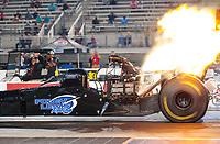 Oct 11, 2019; Concord, NC, USA; NHRA top fuel driver Todd Paton during qualifying for the Carolina Nationals at zMax Dragway. Mandatory Credit: Mark J. Rebilas-USA TODAY Sports