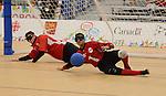 Ahmad Zeividavi, Toronto 2015 - Goalball.<br /> Canada's Men's Goalball team plays against Venezuela // L'équipe masculine de goalball du Canada joue contre le Venezuela. 10/08/2015.