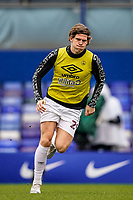20th February 2021; St Andrews Stadium, Coventry, West Midlands, England; English Football League Championship Football, Coventry City v Brentford; Mads Bech Sørensen of Brentford warms-up prior to the match