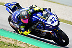 WorldSBK supported test SSP600 and day 2 at Circuit de Barcelona-Catalunya, picture show F. Frossard (SUI) riding Yamaha YZF R6 from Moto Team Jura Vitesse