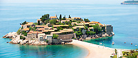 The hotel island Sveti Stefan in Montenegro
