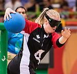 Ashlie Andrews, Rio 2016 - Goalball. <br /> Team Canada competes in Women's Goalball preliminary against China // Équipe Canada participe aux préliminaires du goalball féminin contre la Chine. 12/09/2016.