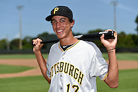 GCL Pirates shortstop Cole Tucker (17) poses for a photo before a game against the GCL Phillies on June 26, 2014 at the Carpenter Complex in Clearwater, Florida.  GCL Phillies defeated the GCL Pirates 6-2.  (Mike Janes/Four Seam Images)