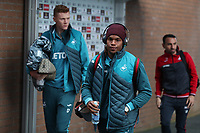 Swansea City players arrive at Turf Moor prior to the Premier League match between Burnley and Swansea City at Turf Moor, Burnley, England, UK. Saturday 18 November 2017