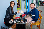Enjoying the outdoor dining and a drink in Killarney on Monday, l to r: Bernadette Cosgrove and Paul McGill.