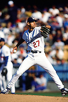 Kevin Brown of the Los Angeles Dodgers during a game at Dodger Stadium circa 1999 in Los Angeles, California. (Larry Goren/Four Seam Images)