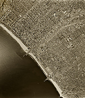 historical aerial photograph Santa Monica, Los Angeles County, California, 1964