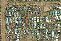 Car junkyard near Dacono, Colorado. June 2014. 85378