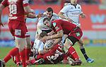 Gareth Davies.RaboDirect Pro 12.Scarlets v Munster..Parc Y Scarlets.21.04.12.©Steve Pope