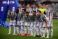 Juventus players pose for a team photo during the Serie A 2021/2022 football match between Torino FC and Juventus FC at Stadio Olimpico Grande Torino in Turin (Italy), October 2nd, 2021. Photo Federico Tardito / Insidefoto