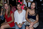 03.09.2012. Celebrities attending the Dolores Cortes and Guillermina Baeza fashion show during the Mercedes-Benz Fashion Week Madrid Spring/Summer 2013 at Ifema. In the image Esmeralda Moya, Lucia Ramos and Giselle Calderon  (Alterphotos/Marta Gonzalez)