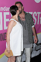 LOS ANGELES, CA, USA - AUGUST 08: Rose McGowan and Davey Detail arrive at the Sundance NEXT FEST Screening Of 'Life After Beth' held at the Ace Hotel Theatre on August 8, 2014 in Los Angeles, California, United States. (Photo by Xavier Collin/Celebrity Monitor)