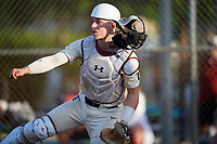 Boston Smith (22) during the WWBA World Championship at Terry Park on October 10, 2020 in Fort Myers, Florida.  Boston Smith, a resident of Vandalia, Ohio who attends Butler High School, is committed to Cincinnati.  (Mike Janes/Four Seam Images)