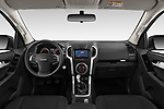 Stock photo of straight dashboard view of 2019 Isuzu D-Max LSX-4wd-crew-cab 5 Door Pick-up Dashboard