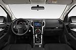 Stock photo of straight dashboard view of 2019 Isuzu D-Max LSX-4wd-crew-cab 5 Door Pick-up Dashboard