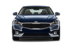 Car photography straight front view of a 2018 KIA Cadenza Premium 4 Door Sedan Front View